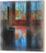 Stained Glass 01 Photo Art Wood Print