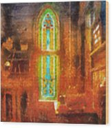 Stained Glass 05 Photo Art Wood Print