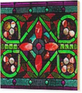 Stained Glass 2 Wood Print