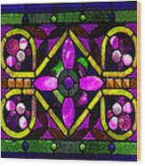 Stained Glass 3 Wood Print