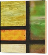 Stained Glass 5 Wood Print by Tom Druin