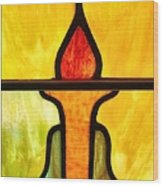 Stained Glass 8 Wood Print by Tom Druin