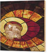 Stained Glass Art Wood Print