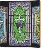 Stained Glass Beauty Wood Print
