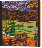 Stained-glass-beauty Wood Print