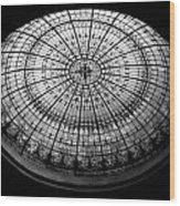 Stained Glass Dome - Bw Wood Print