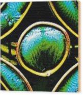 Stained Glass Eye Wood Print by Rebecca Flaig