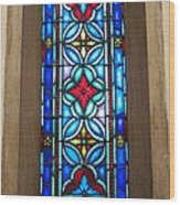 Stained Glass In Redeemer Lutheran Wood Print