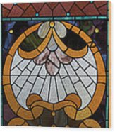 Stained Glass Lc 09 Wood Print