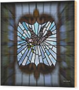 Stained Glass Lc 13 Wood Print