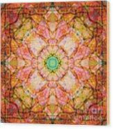 Stained Glass Mandala Wood Print