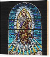 Stained Glass Pc 02 Wood Print