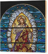 Stained Glass Pc 03 Wood Print