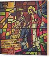 Stained Glass Proverbs 16 Verse 3 Wood Print