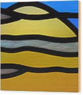 Stained Glass Scenery 3 Wood Print