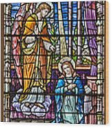 Stained Glass Wood Print by Susan Candelario