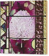 Stained Glass Template Magnolia Glory Wood Print