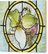 Stained Glass Template Woodlands Flora Wood Print