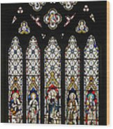 Stained-glass Window 1 Wood Print