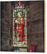 Stained Glass Window 2 Wood Print