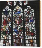 Stained Glass Window I Wood Print