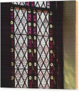 Stained Glass Window In Saint Paul's Episcopal Church-1882 In Tombstone-az Wood Print