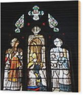 Stained Glass Window V Wood Print