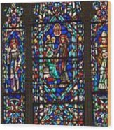 Stained Glass Window Wood Print