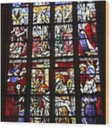 Stained Glass Window Xi Wood Print