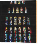 Stained Glass Windows At Basilica Of The Annunciation Wood Print by Eva Kaufman