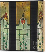 Stained Glass Windows Wood Print