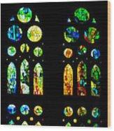 Stained Glass Windows - Sagrada Familia Barcelona Spain Wood Print