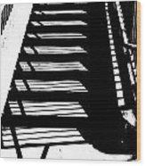 Stair Shadow Wood Print