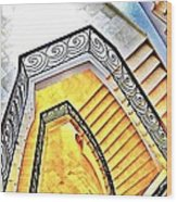 Staircase Abstract Wood Print