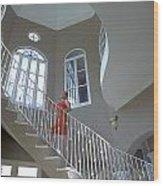 Staircase At Endless Summer Villa Wood Print