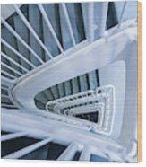 Staircase, Reykjavik Library Wood Print