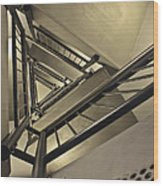 Stairing Up The Spinnaker Tower Wood Print