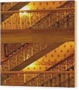 Stairs At The Brown Palace Wood Print