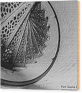 Stairs At The Fort Gratiot Light House Wood Print