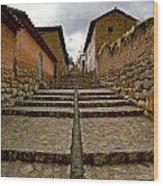 Stairs In Chinchero Peru Wood Print