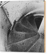 Stairs Leading Downward Into The Catacombs Of Paris France Wood Print