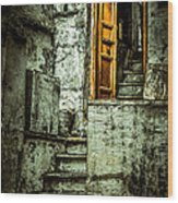 Stairs Leading To The Old Door Wood Print