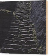 Stairway At Machu Picchu Wood Print
