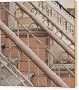 Stairway Detail Wood Print by Denice Breaux