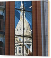 Stairway Dome Reflection Wood Print