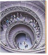 Stairway In Vatican Museum Wood Print