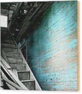 Stairway To Abandoned Wood Print by Amy Sorrell