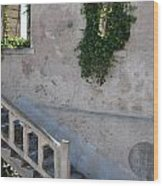 Stairway To Alcatraz Wood Print