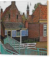 Stairway To Enkhuizen From The Dike-netherlands Wood Print