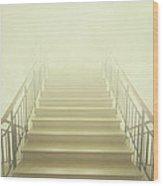 Stairway To Heaven Wood Print by Evelina Kremsdorf